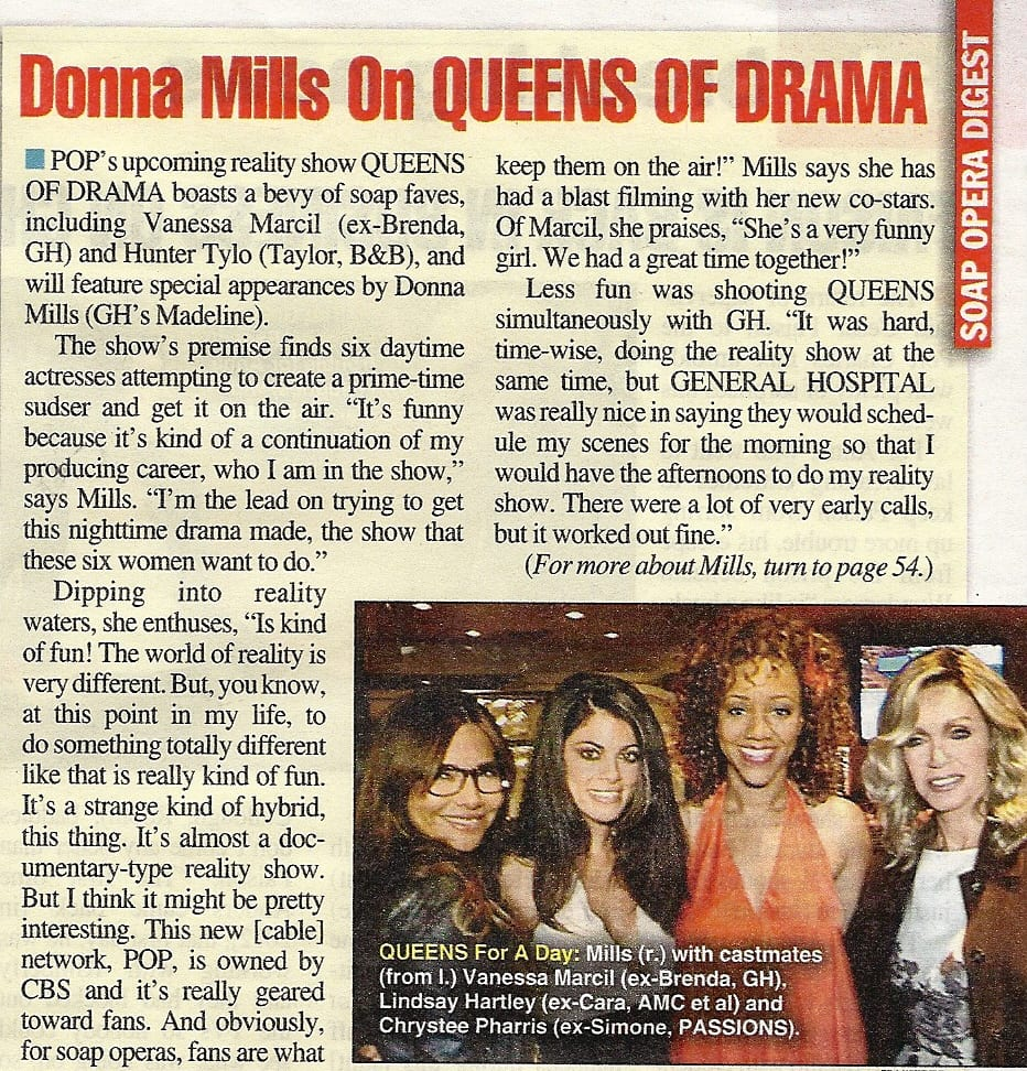Soap Opera Digest Queens of Drama Article